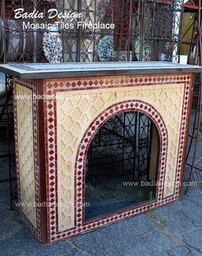 Mosaic fireplace