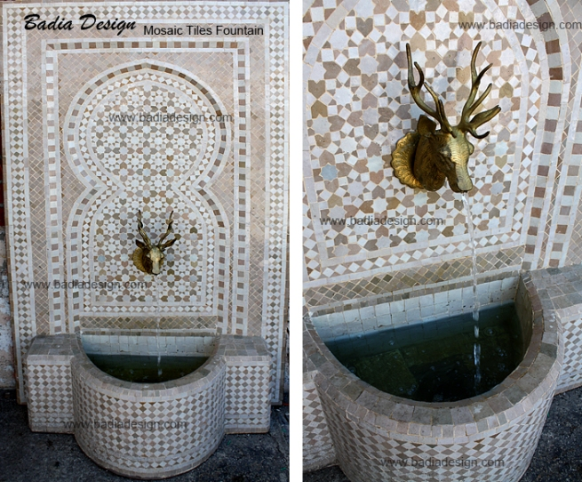 Mosaic Tiles Fountain